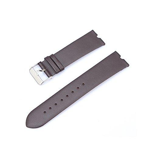 Japace® 22mm Orologio da Polso Leather Watch Strap Band in Pelle Vacchetta Cinturino per Motorola Smartwatch Moto 360 - Marrone