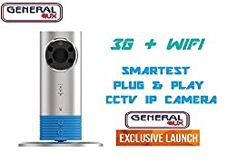 General AUX Orange World's First Plug and Play IP Smartest CCTV Talking Camera, 3G+WiFi, Infrared Night Vision, Video