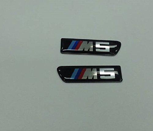 B-PILLAR SIDE FENDER VENT GRILL EMBLEM BADGE 1set-2pc Fits BMW F10 F11 5er M5 (M5 Grill Emblem compare prices)