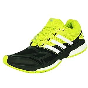 adidas Performance RESPONSE BOOST TECHFIT Zapatillas para Correr Running Negro Amarillo para Hombre