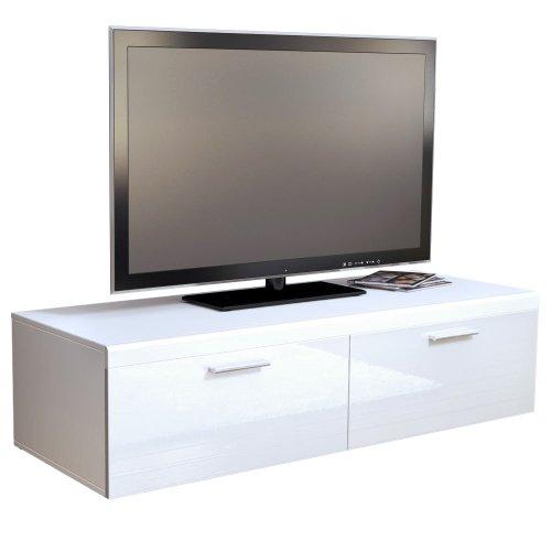 TV Stand Unit Atlanta in White / White High Gloss Black Friday & Cyber Monday 2014