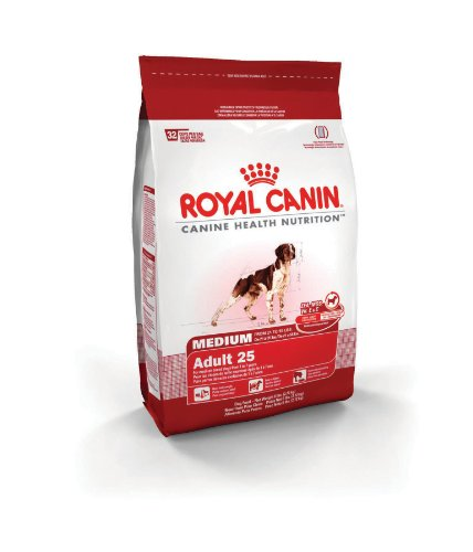 Royal Canin Dry Dog Food, Medium Adult 25 Formula, 30-Pound Bag