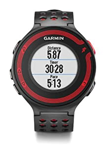 Garmin Forerunner 220 GPS Running Watch with Colour Display and Heart Rate Monitor - Black/Red