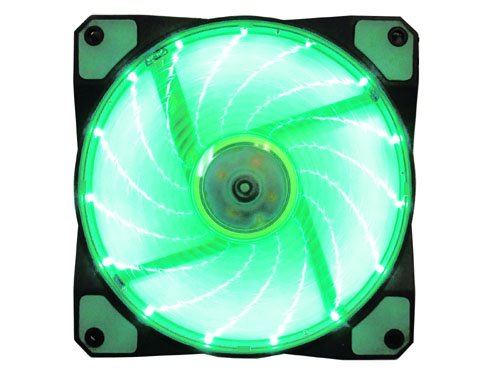 Apevia 120Mm Green Led Case Fan W/ Anti-Vibration Rubber Pads
