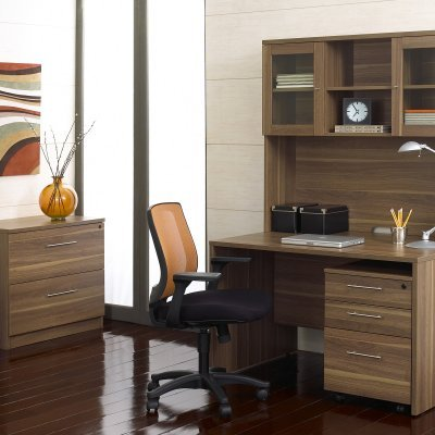 Buy Low Price Comfortable The Ergo Office Computer Desk and Hutch with Optional Filing Cabinets – JOLL029 (B0040GVRY8)