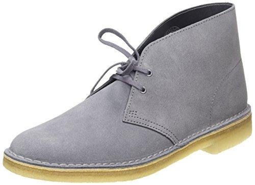Clarks - Desert Boot, Derby da uomo, grigio (grey/blue suede), 43