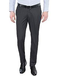 Only Vimal Men's Light Grey Slim Fit Formal Trouser - B01H1XLEFS