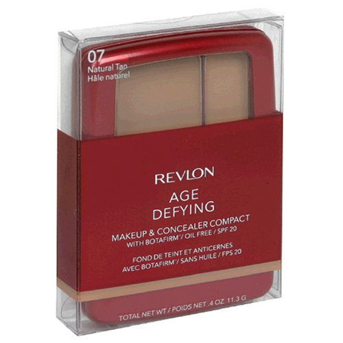 Buy Revlon Age Defying Makeup & Concealer Compact with Botafirm, SPF 20, Natural Tan 07, 0.4 oz (11.3 g) (Pack of 2)