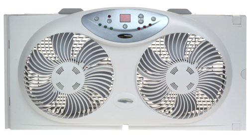 Bionaire Twin Reversible Airflow Window Fan with Remote Control (Portable Exhaust Fan compare prices)