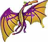 36 Inch Purple Dragon Shaped Foil Balloon - Air or Helium