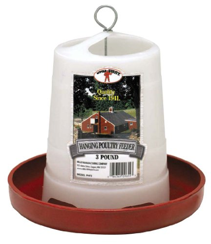 Little Giant 3 Lbs Plastic Hanging Poultry Feeder  PHF3