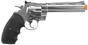 Colt Python .357 Magnum Revolver Gas Powered Airsoft Gun - 6 Inch - Silver