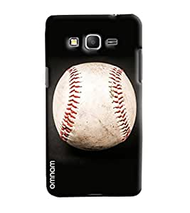 Omnam Cricket Ball Printed Designer Back Cover Case For Samsung Galaxy Grand Prime
