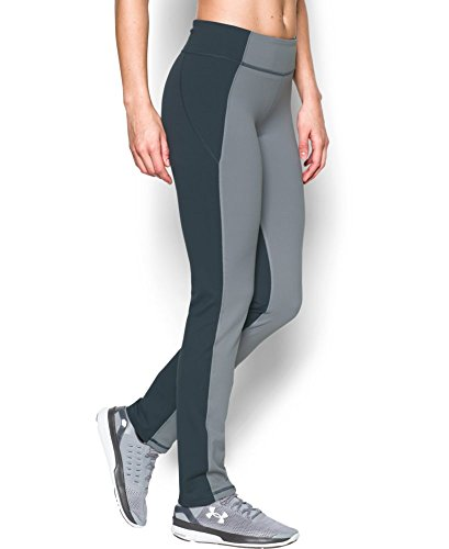 Under Armour Women's Mirror Straight Leg Pant, Steel (035), Small