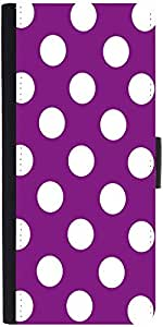 Snoogg Purple Polka Dot Designer Protective Flip Case Cover For Samsung Galax...