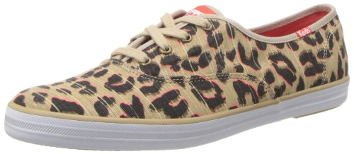Keds, Donna, Champion Leopard, Canvas, Sneakers, Marrone, 39 EU