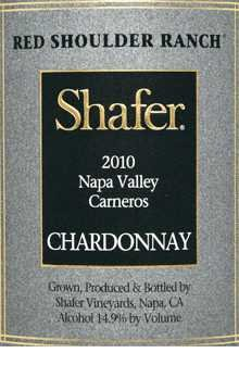 2010 Shafer Chardonnay Napa Valley Carneros Red Shoulder Ranch 750Ml