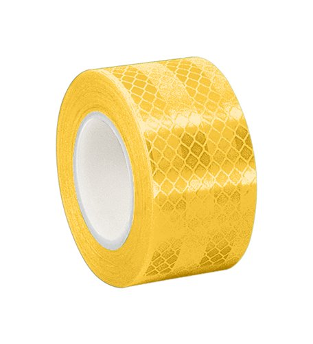 TapeCase Yellow Micro Prismatic Sheeting Reflective Tape Converted from 3M 3431, 0.875
