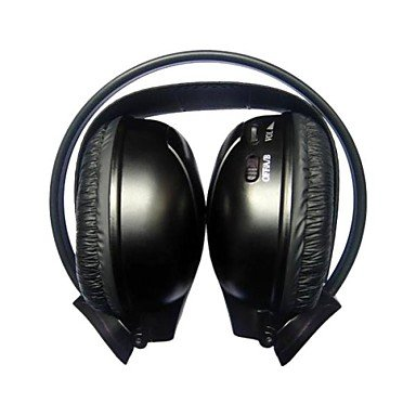 Zaki Infrared Stereo Car Wireless Headphone Ir-2010C , Black