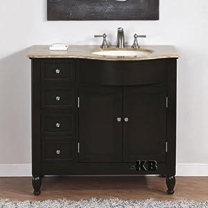 38 bathroom single vanity off center sink cabinet 902tr hf gallery