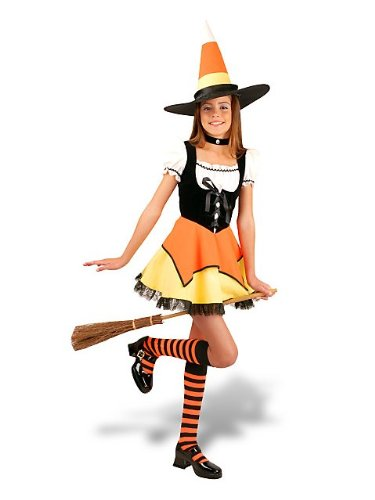 Charades Costumes - Candy Corn Witch Pre-Teen/Teen Costume