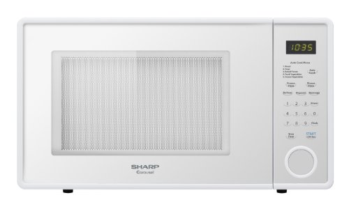 Sharp R-309YW R309 Series 1.1 Cubic Feet 1000-watt Microwave Oven, Mid-Size, Smooth White