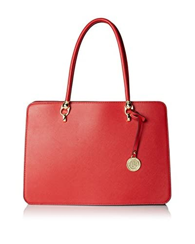 London Fog Women's Logan Briefcase Tote, Red