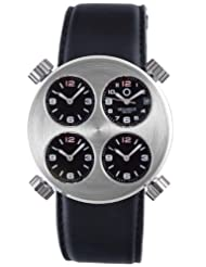 Special Price Meccaniche Veloci Men's W102E_037 Automatic Titanium and Aluminum 4 Dial Dual Time Date Watch Deals