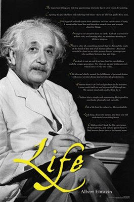 Albert Einstein Science Physics Motivational Quotes Poster 23 x 35 inches