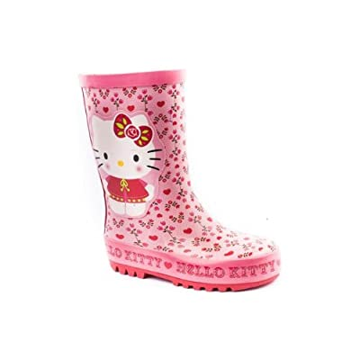 Character Girls Hello Kitty Heart Pink Welly Boot