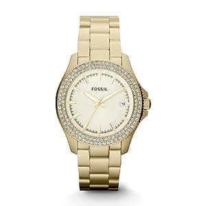 Amazon.com: Fossil AM4453 Ladies RETRO TRAVELLER Gold Watch: Watches
