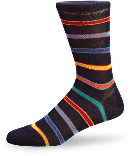 Peter Jones Angel Stripe Men's Socks Navy Size 7 To 10