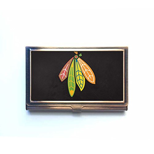Modern elegant business card holder order top cheap modern elegant chicago blackhawks personalized business card holder bronze name case fashion gift box colourmoves