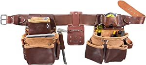 Occidental Leather 5080DB XXXL Pro Framer Tool Belt Set with Double Outer Bags, XXX-Large