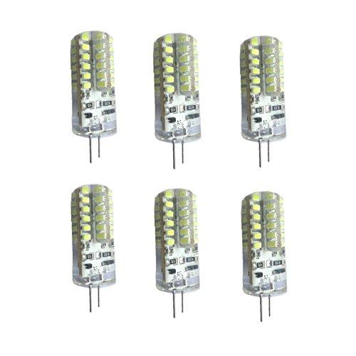 Lenbo High Power 6Pcs/Lot 3W G4 Base Dc 12V Cool White 48 Leds Light Bulb Lamp 360 Degree 3014 Smd Crystal Bulb Energy Saving Spot Light (Cool White)