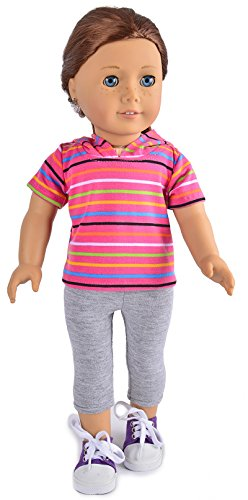 "Ebuddy Sports Shorts with Hat+ Pants Doll Clothes Fits 18"" Girl Doll - 1"