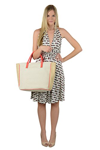 Issa London Womens Off-White Multi I Love Rio Halter Silk Dress 6 $