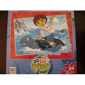 Cheap Milton Bradley Go Diego Go! Nick Jr. 24 piece puzzle – Diego & Sea Turtle (B000RH0EXE)