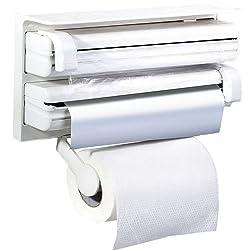 Swarish Triple Paper Dispenser For Cling Film Wrap Aluminium Foil & Kitchen Roll