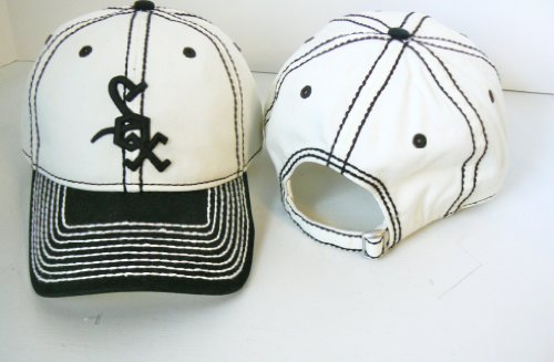 MLB Chicago White Sox Stitches Retro Logo Structured Adjustable Baseball Hat at Amazon.com
