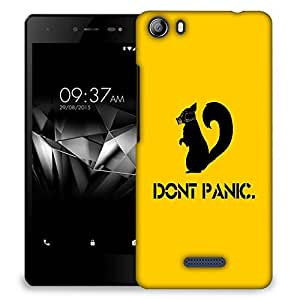 Snoogg Don'T Panic Designer Protective Back Case Cover For MICROMAX E481
