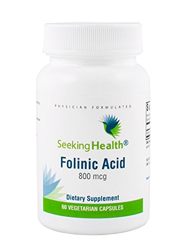 Seeking Health | Folinic Acid | Provides 800 mcg DFE Bio-available Folinic Acid | Non-Methyl Form of Folate | 60 Vegetarian Capsules