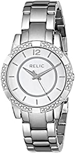 Relic by Fossil Payton Glitz Silver Tone Stainless Steel Womens Watch ZR34201