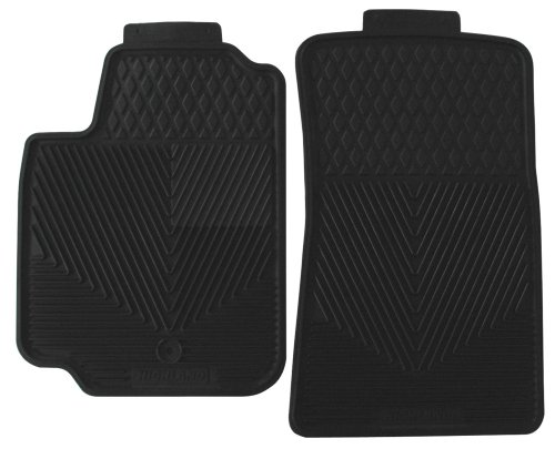 Highland 4602200 All-Weather Black Front Seat Floor Mat front-67965