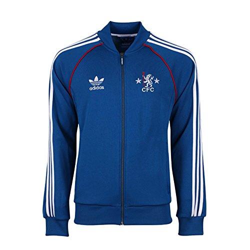 Adidas Men's Chelsea FC Superstar Men Track Jacket (Small) (Adidas Vintage Jacket compare prices)