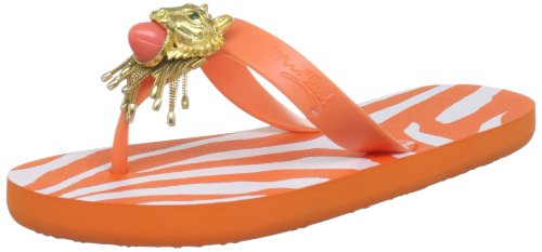 Miss Trish Womens Lion Orange Thong Sandals MTR13-109 7 UK, 40 EU, 9 US, Regular