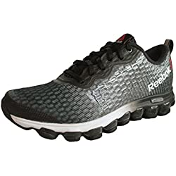 Reebok Men's ZJet Thunder Running Shoes - Steel/Flat Grey/White/Black