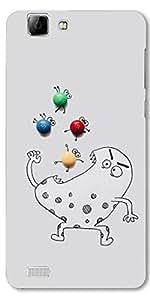 DigiPrints High Quality Printed Designer Soft Silicon Case Cover For Vivo V1