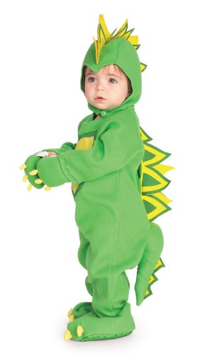 Rubie's Costume EZ-On Romper Costume, Dragon / Dinosaur, 6-12 Months