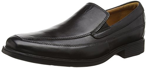 Clarks Tilden Free - Mocassini Uomo, Nero (Black Leather), 43 EU